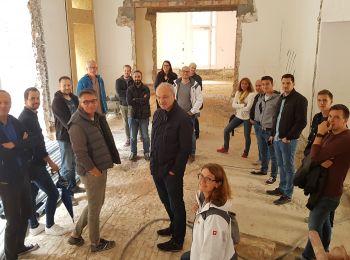 Das PM1-Team bei der Besichtigung des Palais Faber